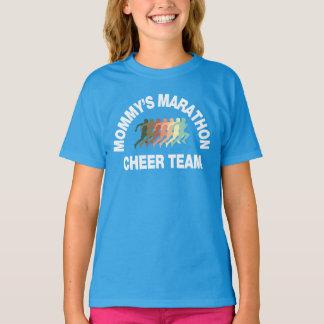 T-shirt équipe d'acclamation du marathon de la maman