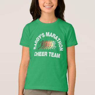 T-shirt équipe d'acclamation du marathon du papa