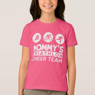 T-shirt équipe d'acclamation du triathlon de la maman