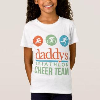 T-Shirt équipe d'acclamation du triathlon du papa