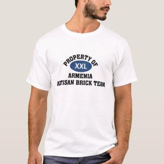 T-shirt Équipe de brique de l'Arménie