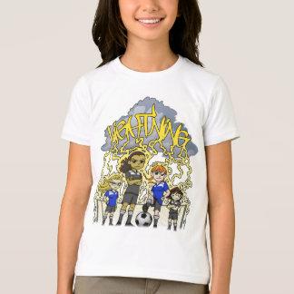 T-shirt Équipe de football de foudre