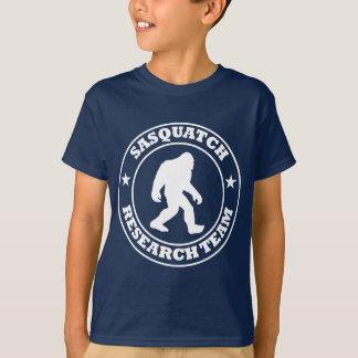 T-shirt ÉQUIPE DE RECHERCHE de SASQUATCH - pro logo blanc