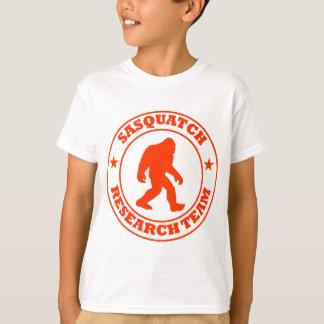 T-shirt ÉQUIPE DE RECHERCHE de SASQUATCH - pro logo rouge