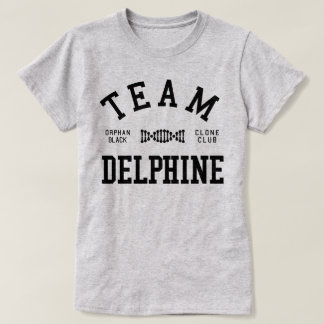 T-shirt Équipe noire orpheline Delphine