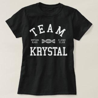 T-shirt Équipe noire orpheline Krystal