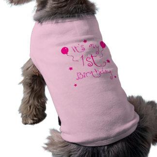 T-shirt ęr Chien d'anniversaire