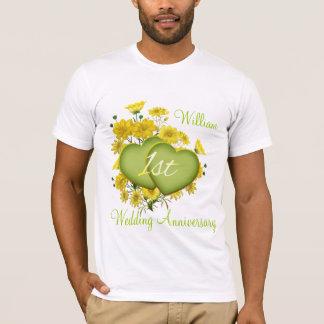 T-shirt ęr Coeurs de fleur sauvage de fête d'anniversaire