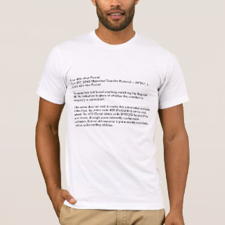 T-shirt Erreur 404--Pas hypertexte 2068 de RFC de