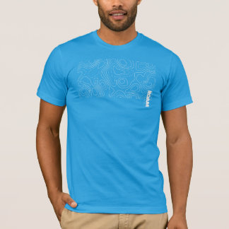 T-shirt ERREZ la carte topographique de GIS d'habillement