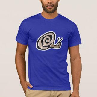 T-shirt Escargot mignon ; Bleu