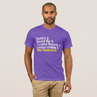T-shirt Esperluète : Se rappeler les magasins du disque de