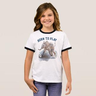 T-shirt espiègle de sonnerie de l'éléphant de la