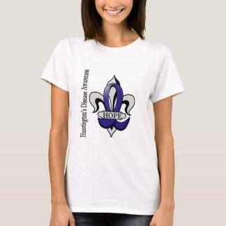 T-shirt Espoir de la maladie de Fleur De Lis Huntington