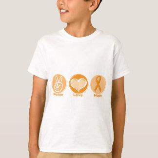 T-shirt Espoir d'orange d'amour de paix