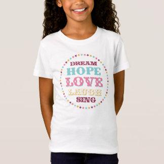 T-Shirt Espoir rêveur d'amour de mots inspirés