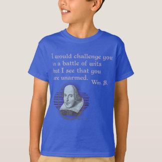 T-shirt Esprits sans armes de Snark Shakespeare