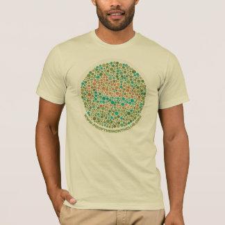 T-shirt Essai d'Ishihara pour la cécité de tarte