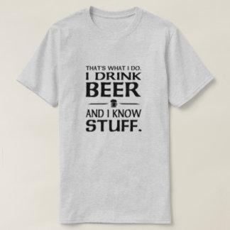 T-shirt Est ce ce que je fais je bois de la bière et je