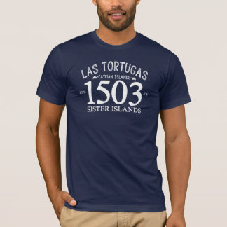 T-shirt Est de Las Tortugas. Bleu marine 1503
