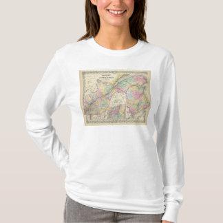 T-shirt Est du Canada ou le Canada et le Nouveau Brunswick