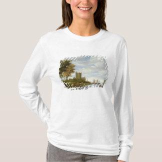 T-shirt Estuaire de rivière avec un château