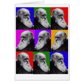 T-shirt et cadeaux d'ART de Charles Darwin POP Carte De Vœux