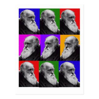 T-shirt et cadeaux d'ART de Charles Darwin POP Cartes Postales