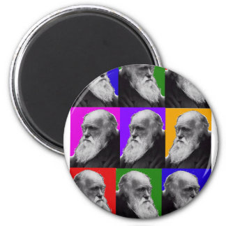 T-shirt et cadeaux d'ART de Charles Darwin POP Magnet Rond 8 Cm