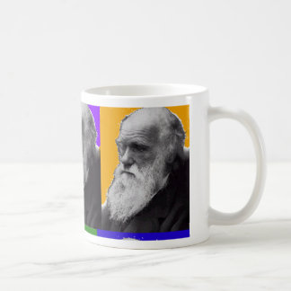T-shirt et cadeaux d'ART de Charles Darwin POP Mug Blanc