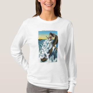T-shirt Établissement de la légende du canoë blanc