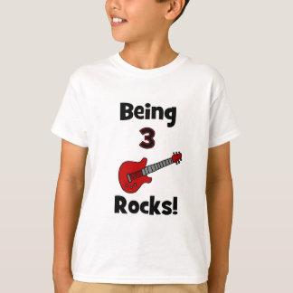 T-shirt Étant 3 roches ! Avec le balancier de Rockstar de