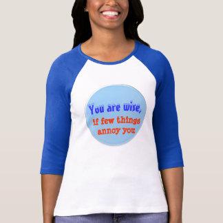 T-shirt Étant sage - mots de la sagesse