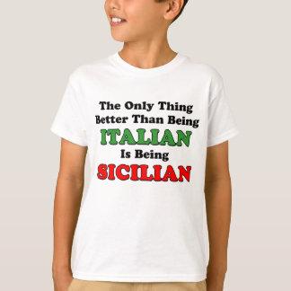 T-shirt Étant sicilien