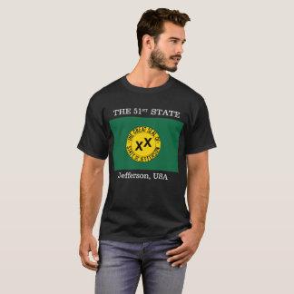 T-shirt État de drapeau de Jefferson