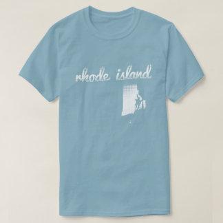 T-shirt État d'Île de Rhode dans le blanc