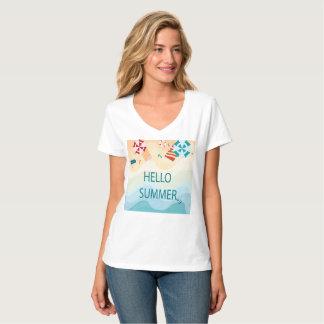 T-shirt Été adorable mignon de bonjour, article drôle de