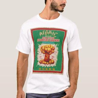 T-shirt Étiquette atomique vintage de pétard