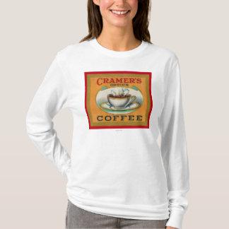 T-shirt Étiquette bien choisi du café de Cramer