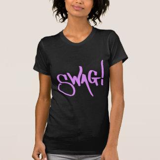 T-shirt Étiquette de butin - rose