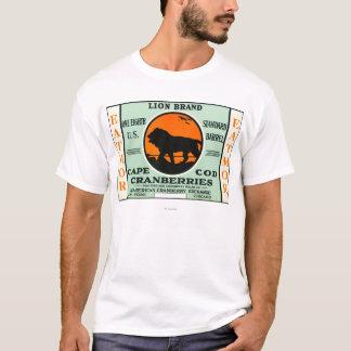 T-shirt Étiquette de marque de canneberges d'Eatmor de