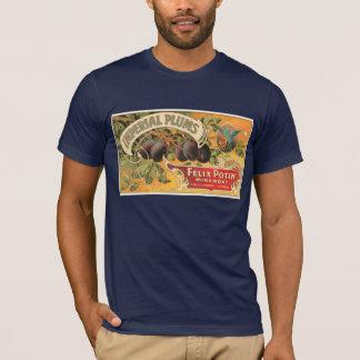 T-shirt Étiquette impérial vintage de prunes