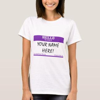 T-shirt Étiquette nommée