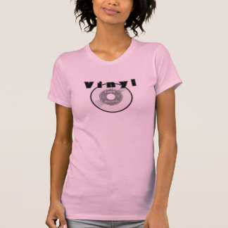 T-shirt Étiquette personnalisable de disque du VINYLE 45