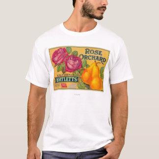 T-shirt Étiquette rose de caisse de poire de verger