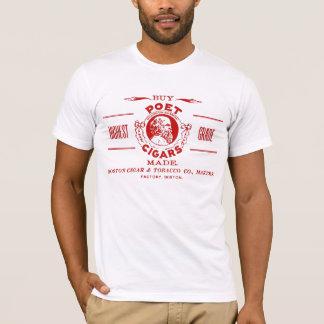 T-shirt Étiquette vintage d'annonce de cigare de poète