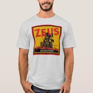 T-shirt Étiquette vintage de caisse de Zeus - Assn. olive