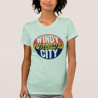T-shirt Étiquette vintage de Chicago