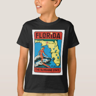 T-shirt Étiquette vintage d'état de la Floride FL de