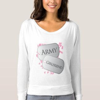 T-shirt Étiquettes de chien d'amie d'armée